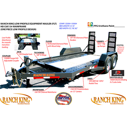 Ranch King 14K-16K Equipment Hauler